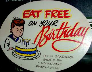 Eat Free on Your Birthday