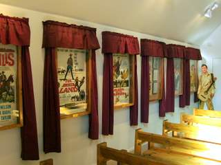 Evis Chapel interior with movie posters