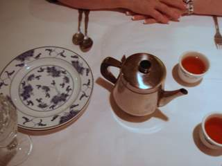 cozy place setting and hot tea