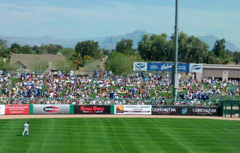 Right Field lawn chair berm