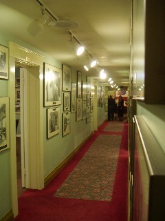 Hallway with historical pictures
