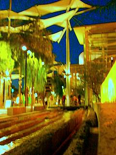 Mesa Arts Center night scene