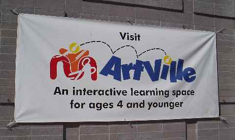 Artville is a fun place for kids 4 and younger