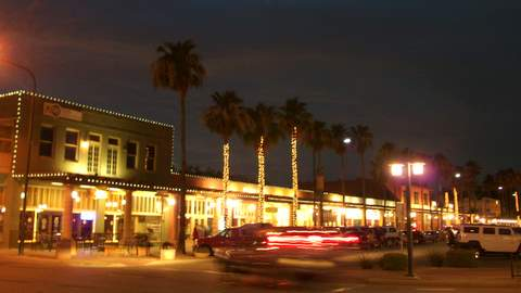 Historical Downtown Chandler night scene