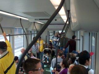 Metro crowded interior
