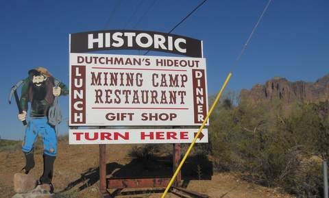 Mining Camp Sign